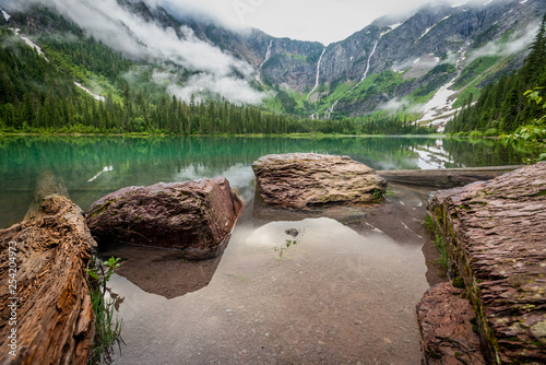 Rocks At The Edge of Avalanche Lake - 254204973