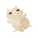 quirky retro illustration style cartoon cat