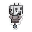 sticker of a cartoon robot