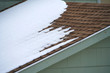 melting snow on the house roof
