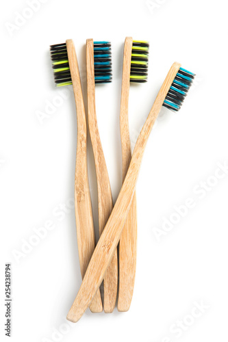 Eco friendly bamboo toothbrushes - 254238794