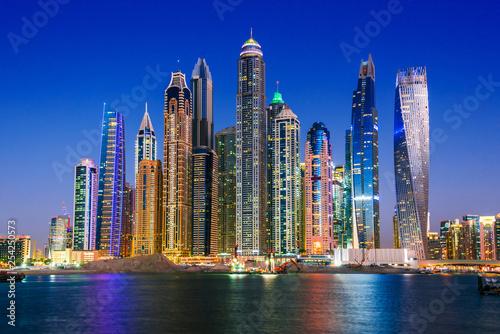 obraz lub plakat Modern residential architecture of Dubai Marina, UAE