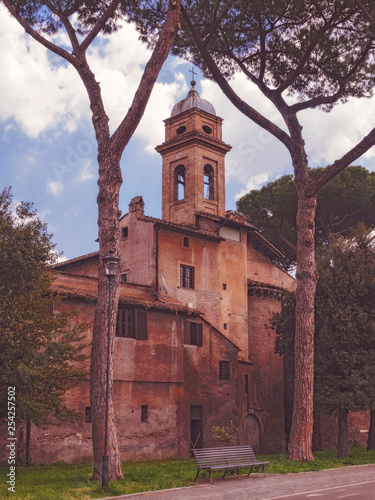 obraz PCV Old and ramshackle church building in Rome. Italy
