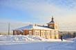 Russian winter in monastery