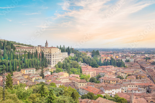 mata magnetyczna Beautiful view of the hill of San Pietro and the panorama of the city of Verona, Italy