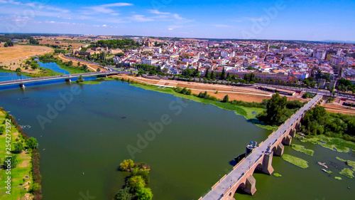 Badajoz. City of Extremadura. Spain. Drone Photo - 254279392