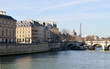 The River Seine at the Pont Neuf bridge, Paris, France
