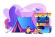 Summer camp concept vector illustration.