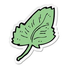 sticker of a cartoon leaf symbol