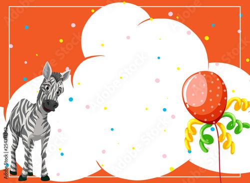 A zebra on party background - 254313362