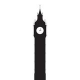 Fototapeta Big Ben - Big Ben vector silhouette © siraanamwong
