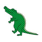 quirky comic book style cartoon crocodile