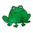 quirky hand drawn cartoon frog