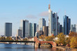 Downtown in Frankfurt, Germany