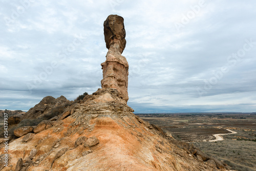 Tozal de la Cobeta sandstone, Monegros in Huesca province, Spain - 254377937