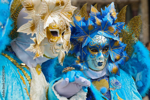 obraz lub plakat carnival venice, beautiful mask and disguise from venice in italy