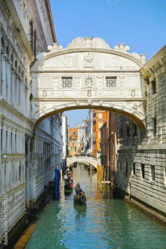 Pont des soupirs, Venice in Italy - 254388337