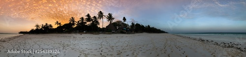 Beautiful sunset over beach in Kenya
