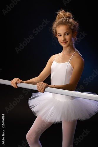 Portrait of pretty ballerina - 254403184