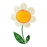 quirky retro illustration style cartoon daisy