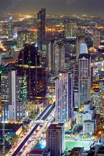 bangkok thailand city scape - 254433569