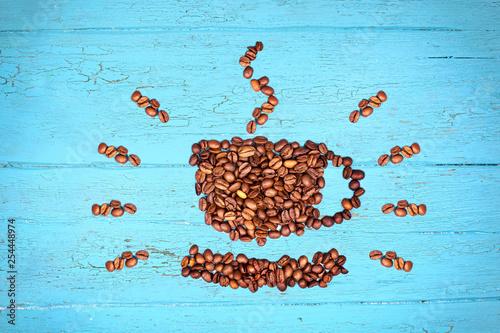 frische Kaffeebohnen als Tasse © Jenny Sturm