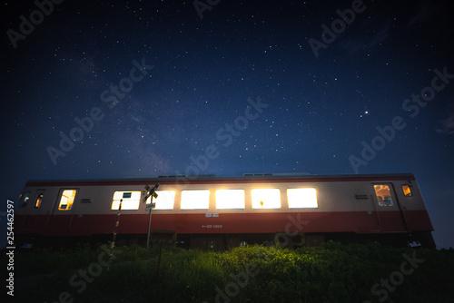 train at night
