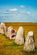 Leinwanddruck Bild - Ales Stenar Viking Standing Stones