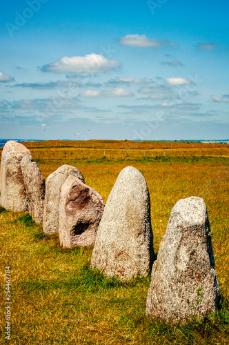 Leinwanddruck Bild Ales Stenar Viking Standing Stones