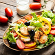 Leinwanddruck Bild - Healthy fresh salad