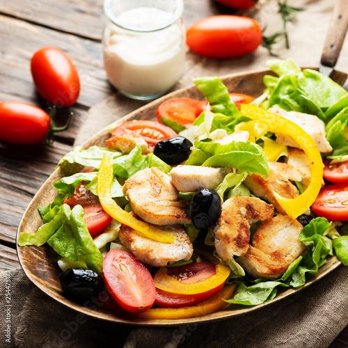 Leinwanddruck Bild Healthy fresh salad