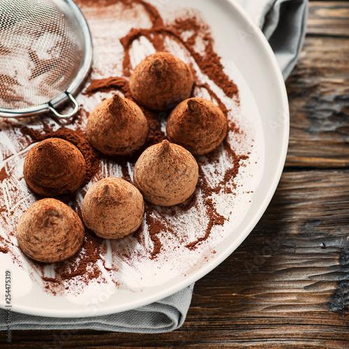 Homemade chocolate truffle