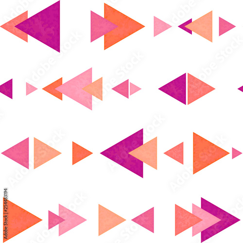 obraz PCV Seamless Pattern of Pink and Orange Triangles