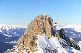 Peak of a mountain in winter