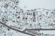 Leinwanddruck Bild - Aerial view of village
