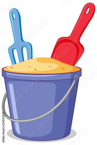 A sand bucket on white background