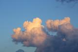 fluffy cloud on blue sky