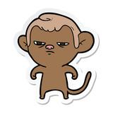 sticker of a cartoon monkey