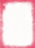 handwriting pastel color frame -red