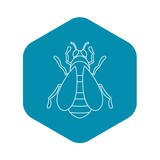 Bee icon. Outline illustration of bee vector icon for web