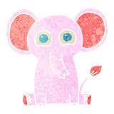 quirky retro illustration style cartoon elephant