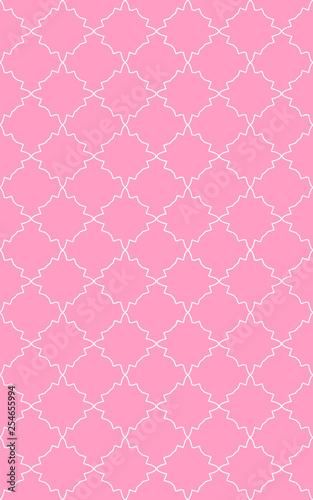 vintage pattern, retro, seamless pattern, pastel shades, ornament - 254655994