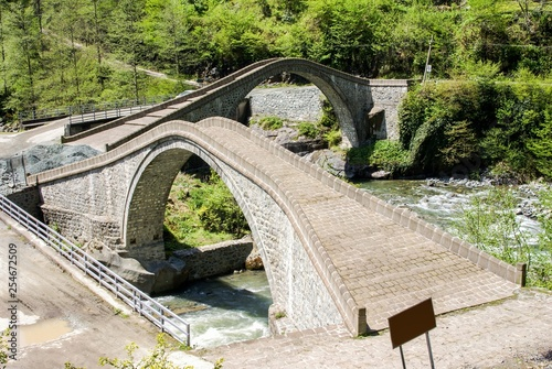 twin bridge in artvin province.arhavi turkey - 254672509