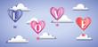 Love romantic banner card