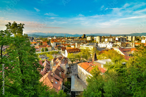 View from the funicular railway to Ljubljana Castle - 254678398