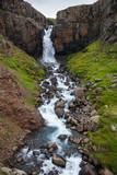 Small Fardagafoss waterfall Egilsstadir Eastern Iceland Scandinavia