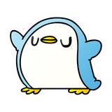 gradient cartoon kawaii of a cute penguin
