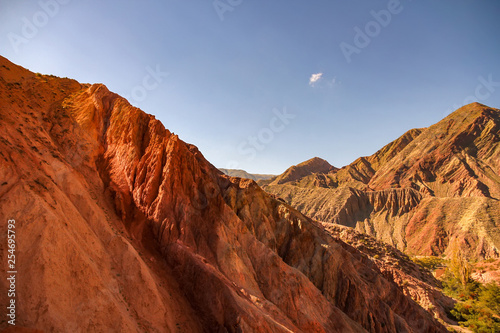 View on the rocks and the mountains of Salta