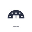 hangar icon on white background. Simple element illustration from airport terminal concept.