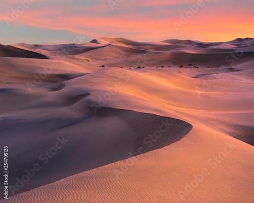 Sunset Over Mesquite Dunes in Death Valley, CA © dfikar